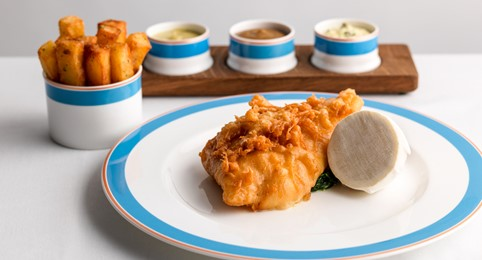 Kerridge's plate of fish and chips