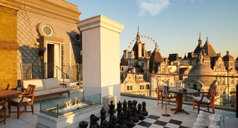 Corinthia London Penthouse terrace