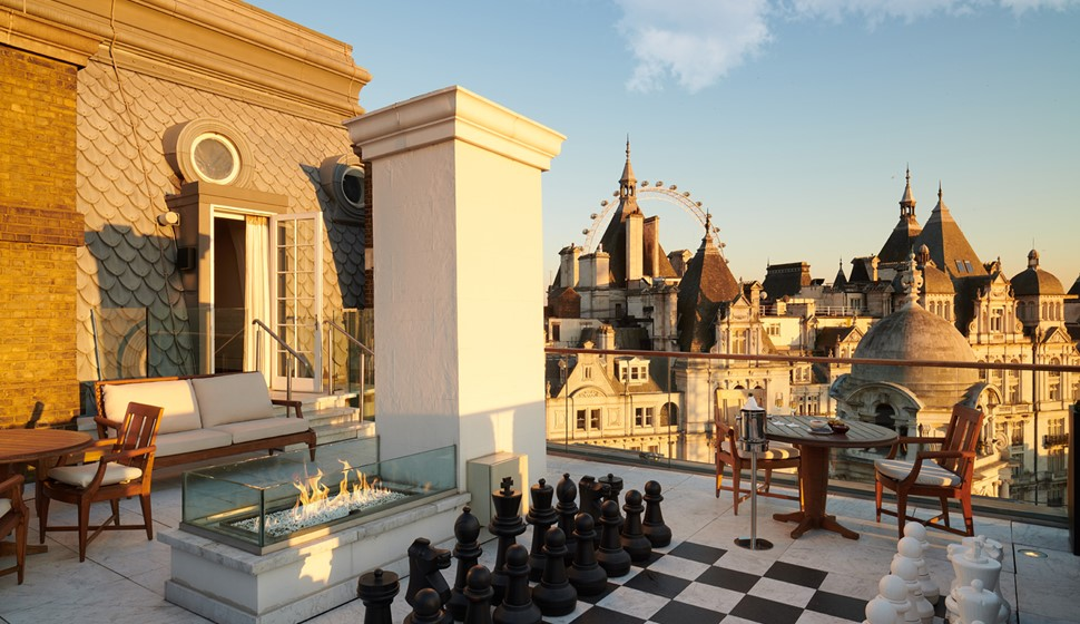 Corinthia London Whitehall penthouse terrace