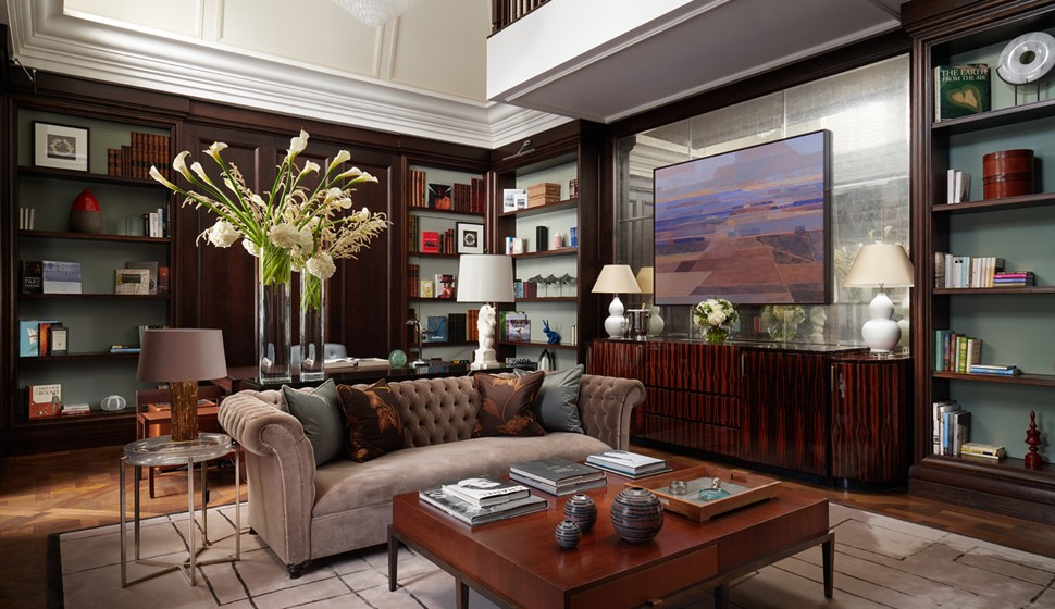 Corinthia London Writer's penthouse living room