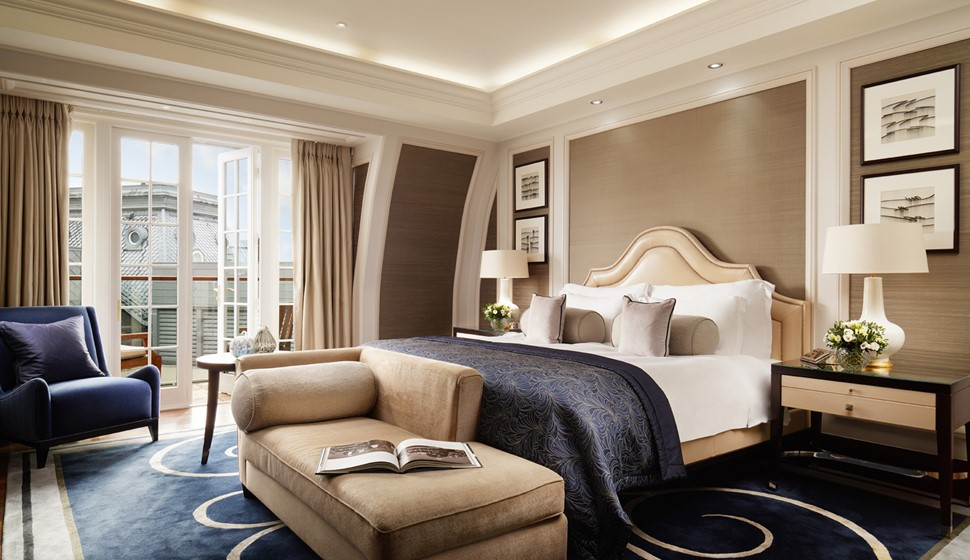 Corinthia London Musician's penthouse bedroom