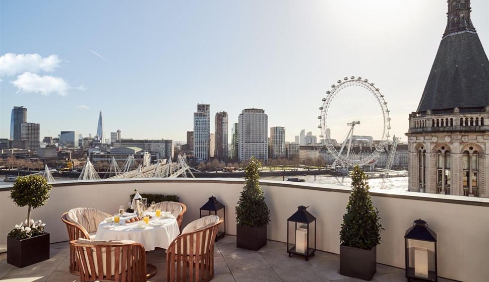 Corinthia London Royal penthouse terrace
