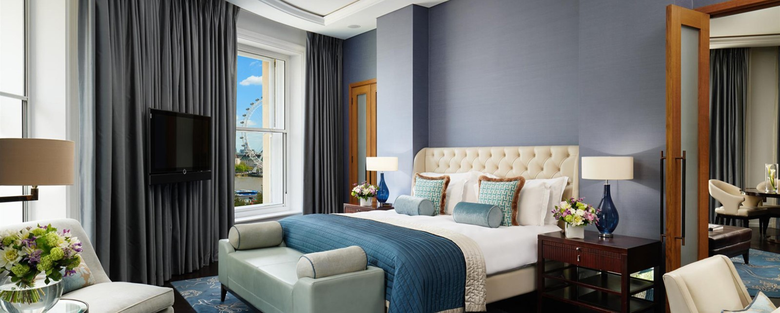 Corinthia London River Suite Schlafzimmer