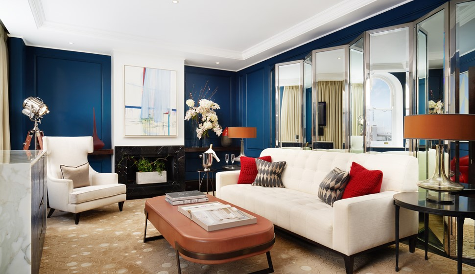 Corinthia London Actor's penthouse living room