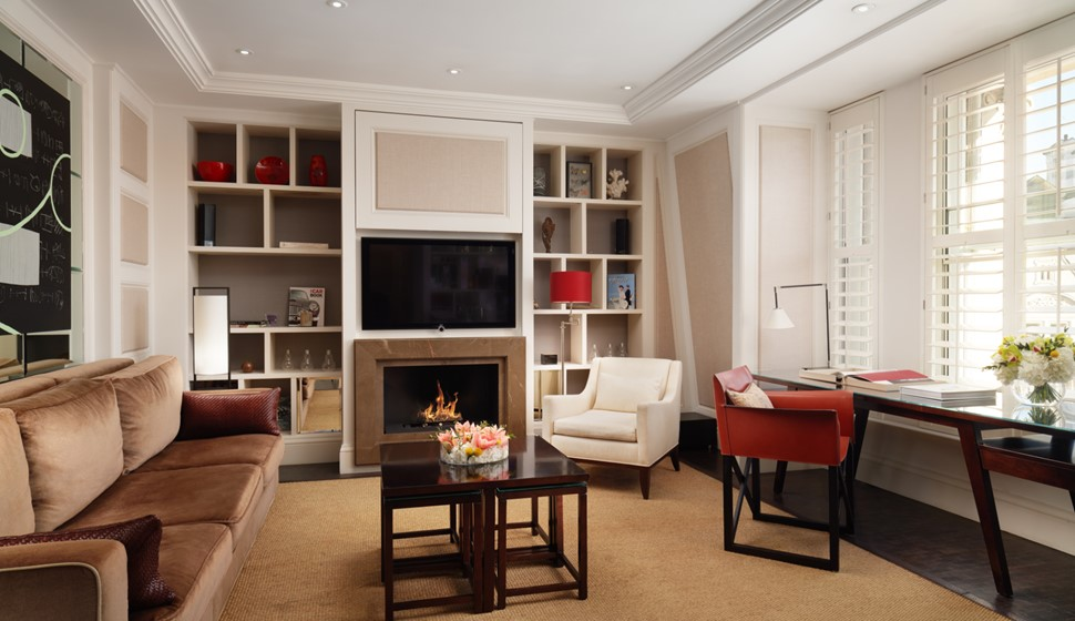 Corinthia London explorer's penthouse living room