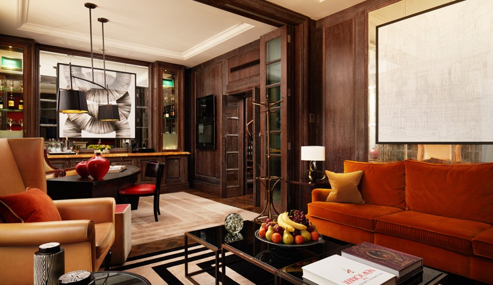 Corinthia London Whitehall penthouse living room