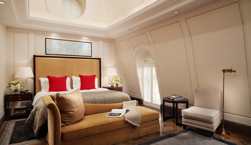 Corinthia London Whitehall penthouse bedroom