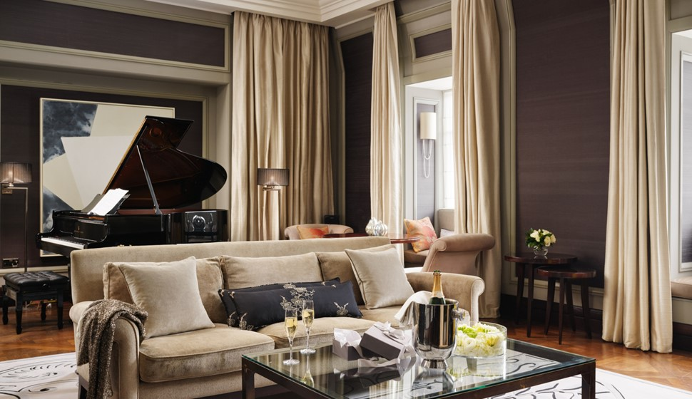 Corinthia London Musician's penthouse living room