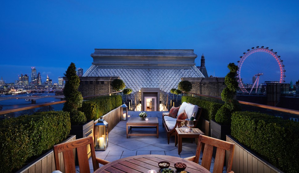 Corinthia London Musician's penthouse terrace