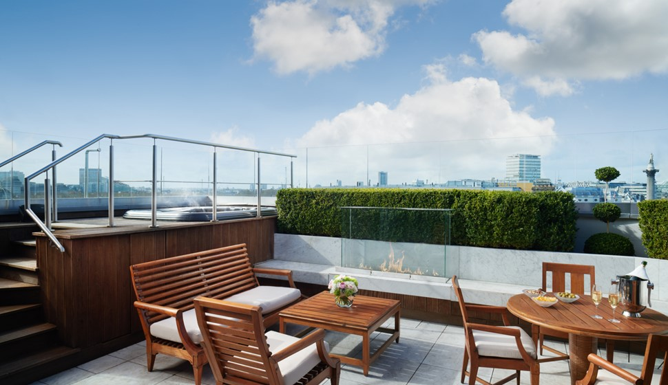 Corinthia London Hamilton penthouse terrace