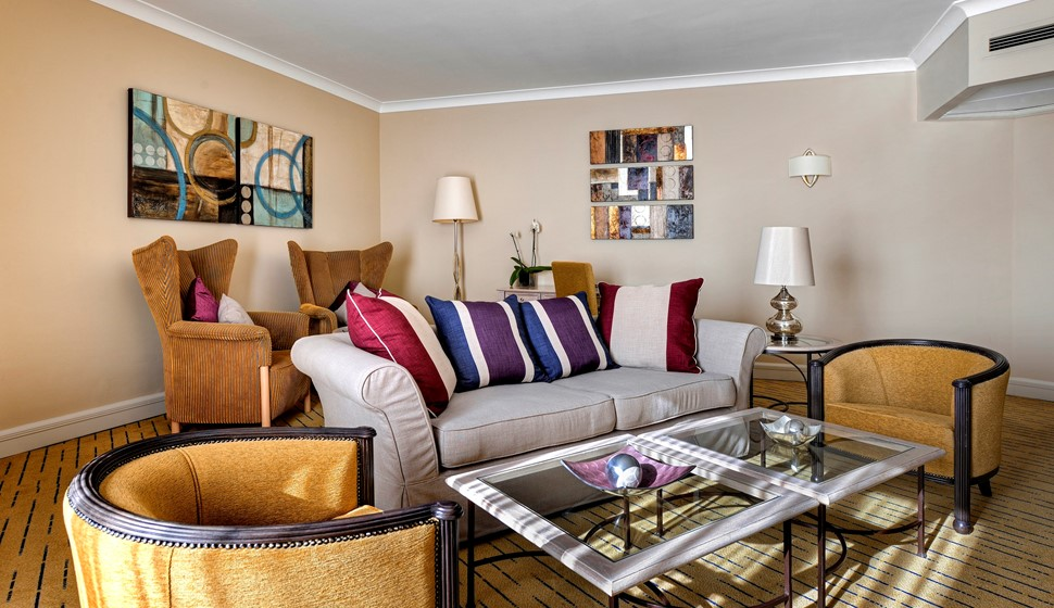 Corinthia St George's bay grand suite living room