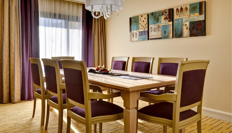 Corinthia St George's bay grand suite dining table