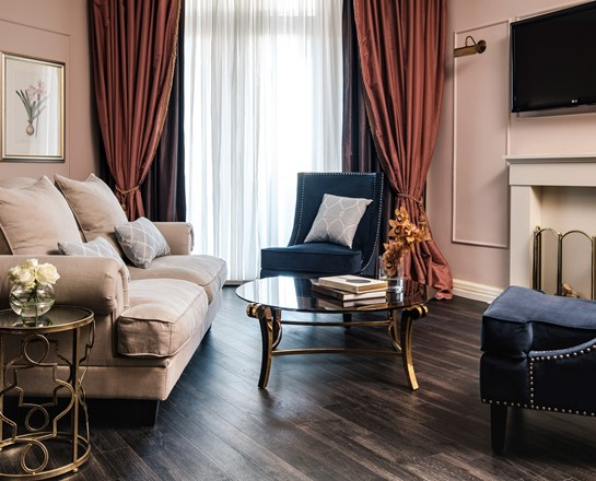 Corinthia Palace Executive Suite living area