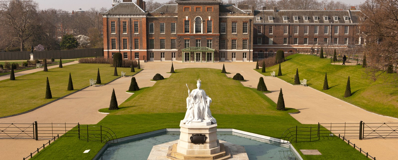 Kensington Palace and its front lawn