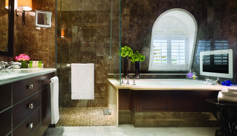 Corinthia London Musician's penthouse bathroom
