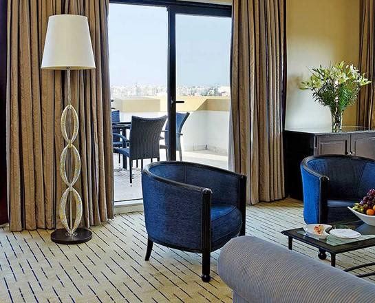 Corinthia St George's bay deluxe suite lounge