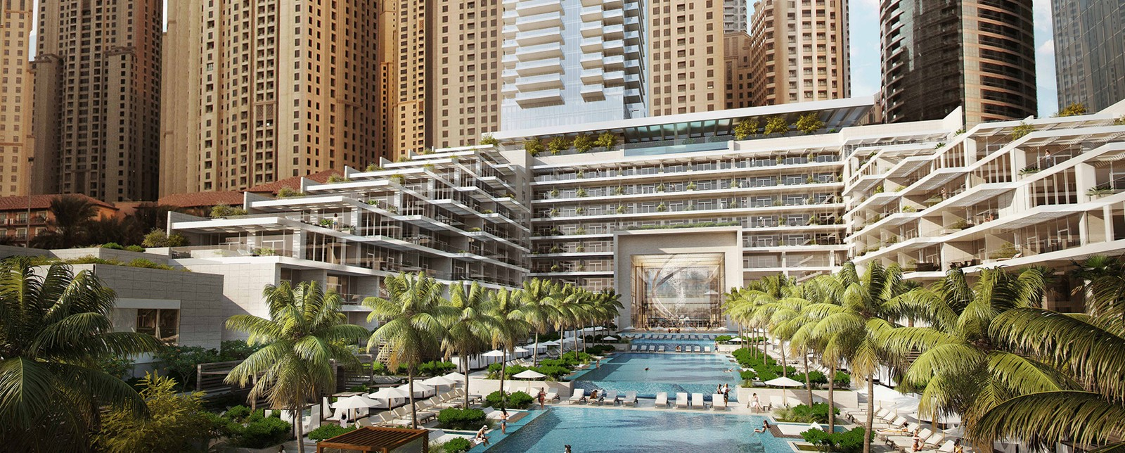 corinthia meydan beach dubai pools