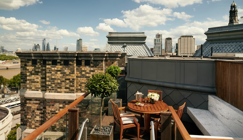Corinthia London Writer's penthouse terrace