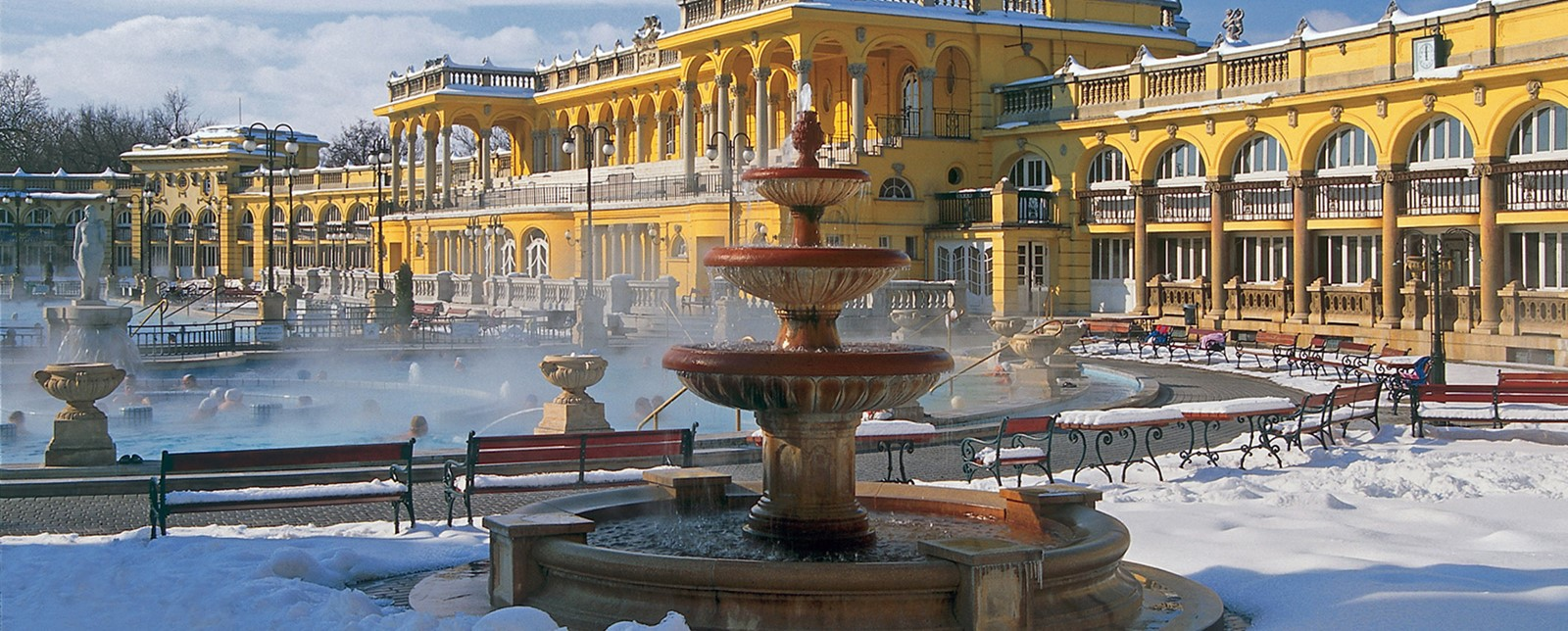 Szechenyi baths in winter