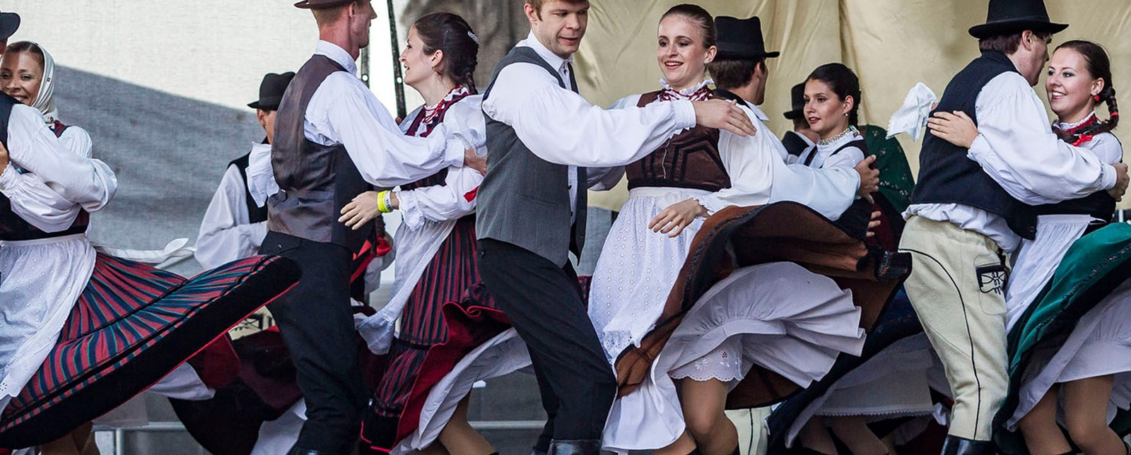 Traditional Dancers at Budapest Wine Festival