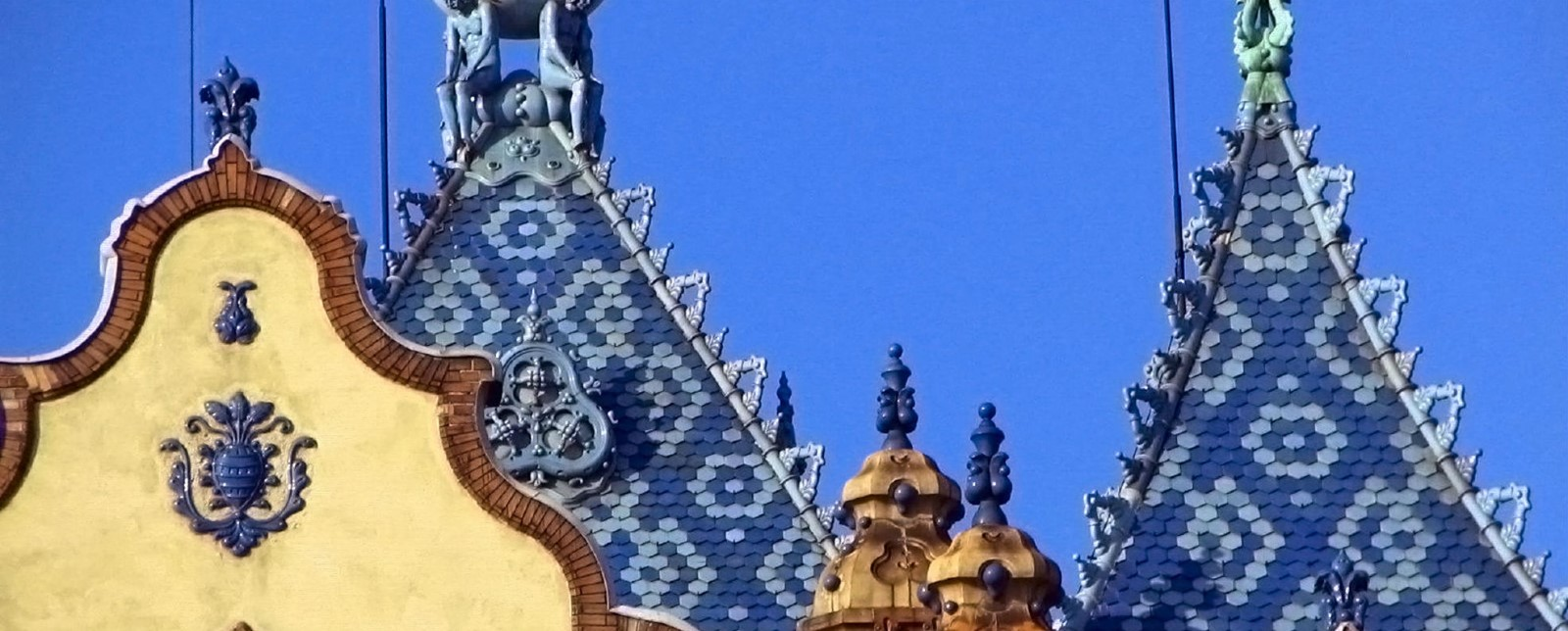 The blue tiled roof of the Geological Institute