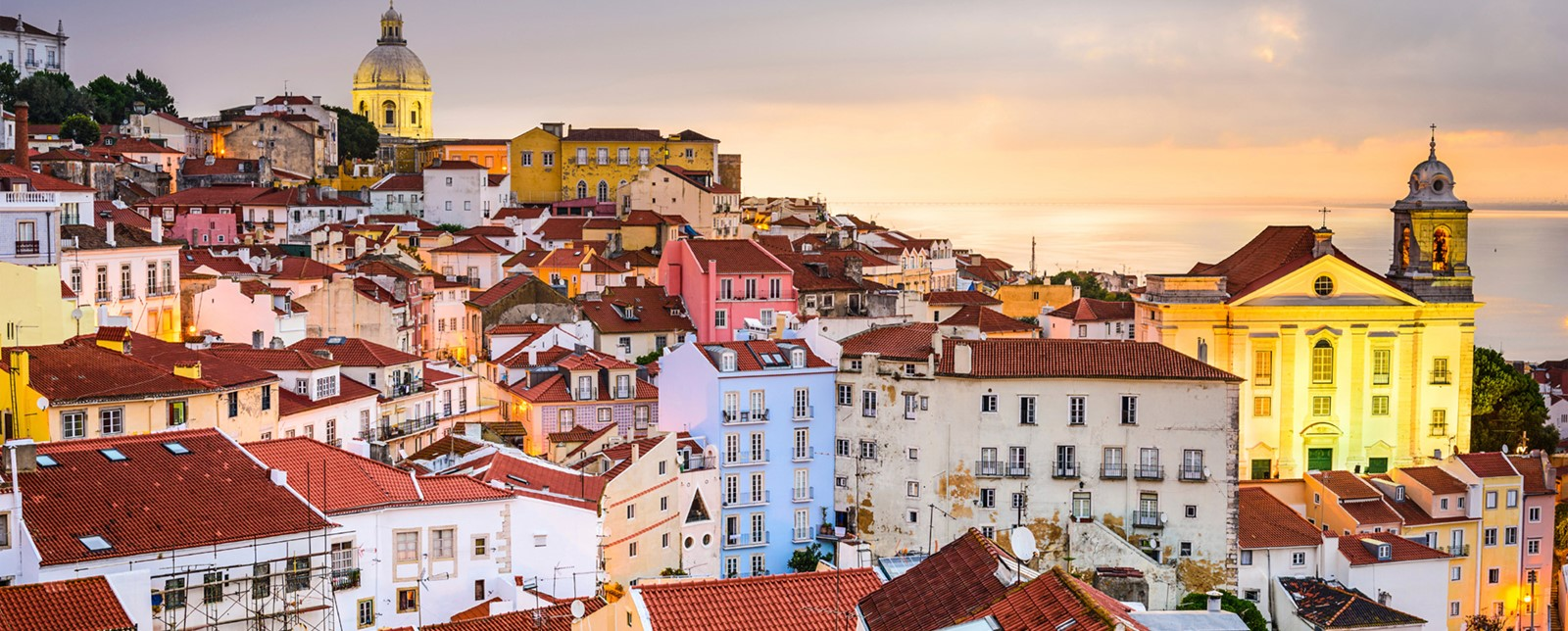Rooftops of buildings in Lisbon