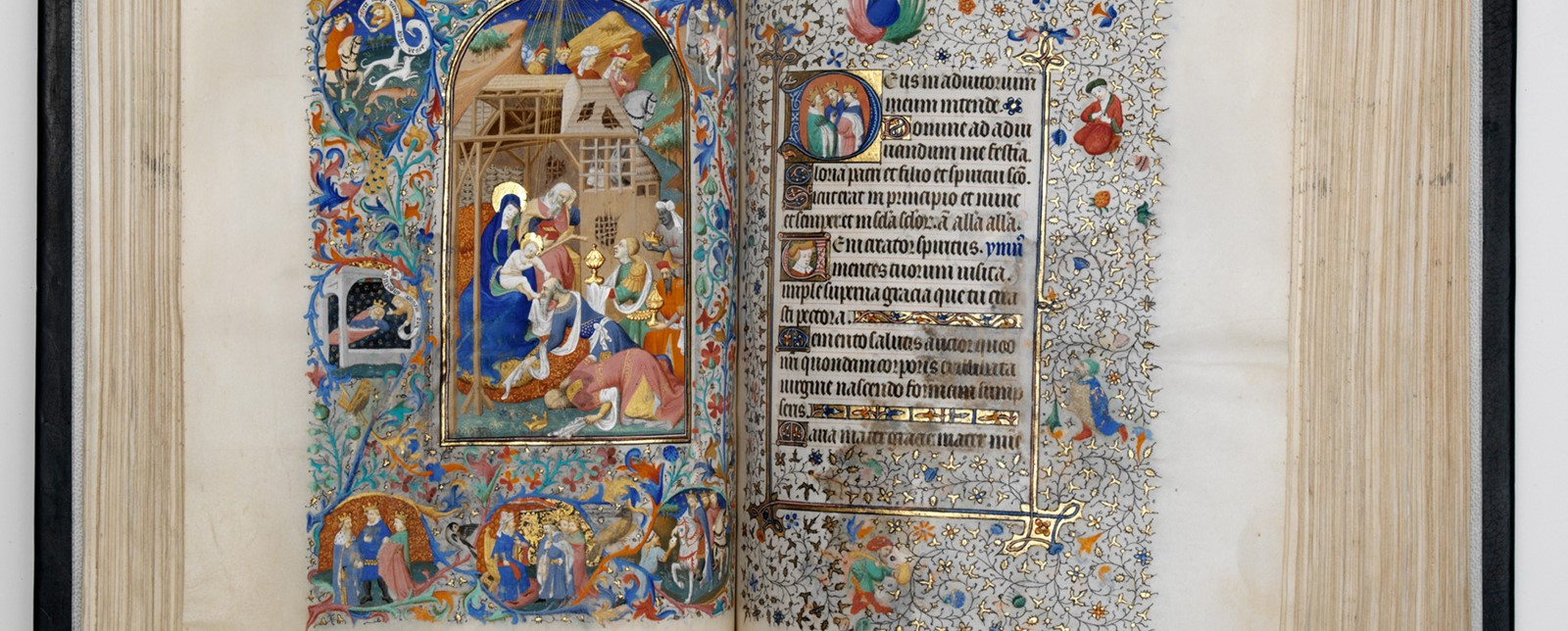 The Book of Hours medieval illuminated manuscript