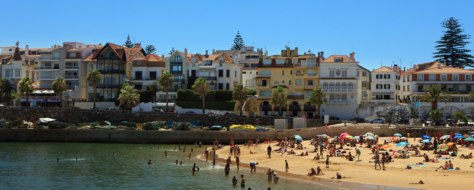 People at the beach in Cascais