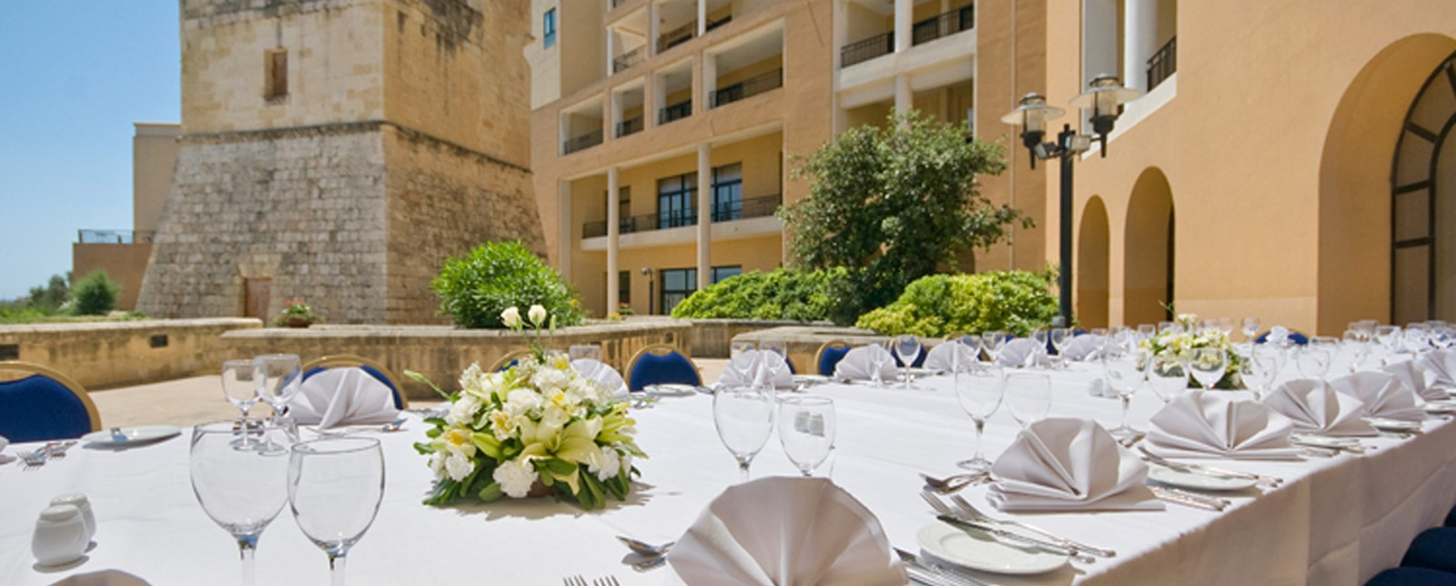 Corinthia St George's Bay tables