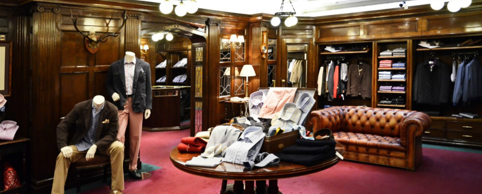 The interior of Turnbull and Asser men's clothing shop
