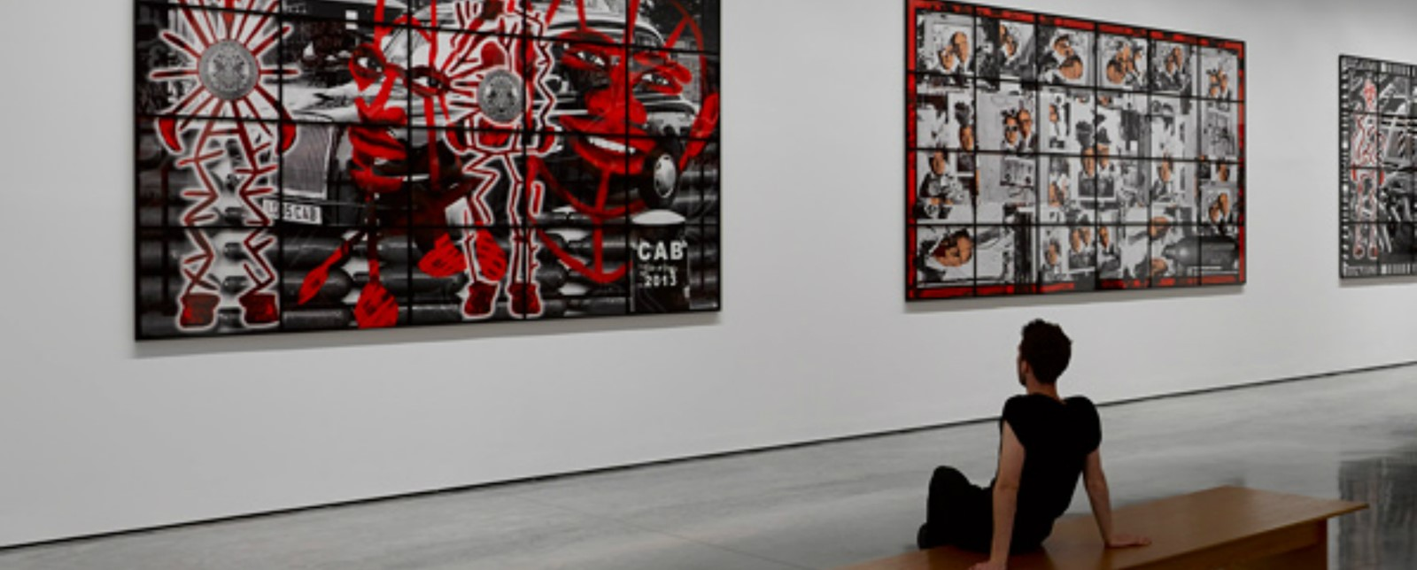 Gilbert and George exhibition at the White Cube Gallery