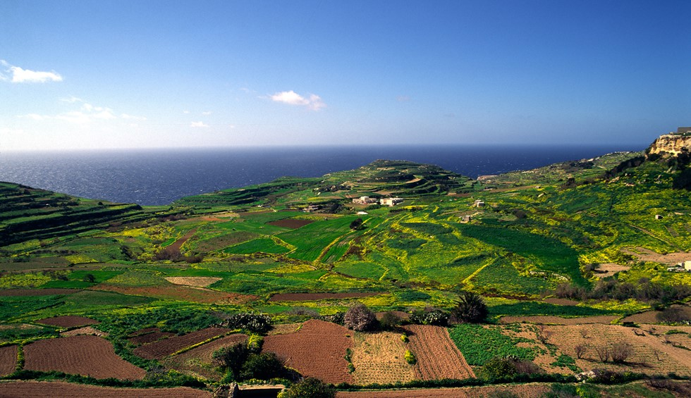malta aerial country views