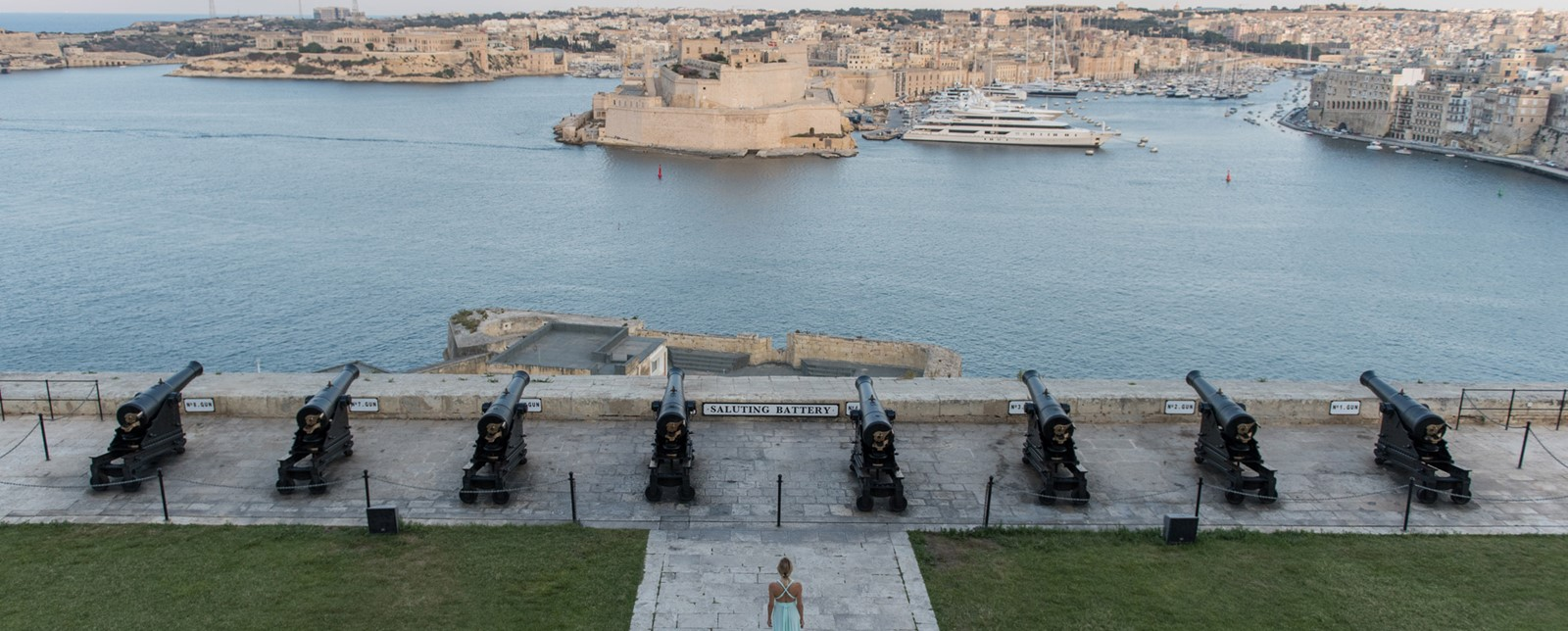 Saluting Battery Valletta harbour