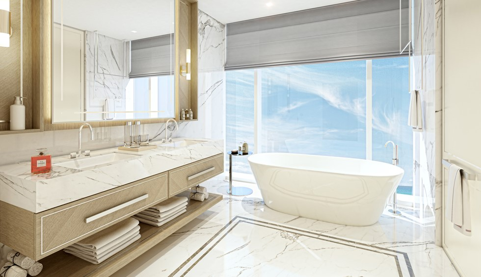 corinthia meydan beach dubai podium bathroom