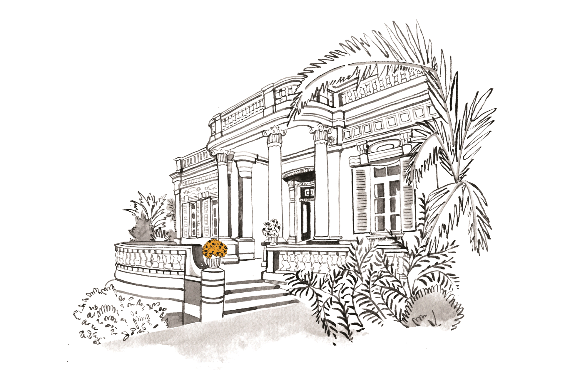 corinthia palace malta illustration