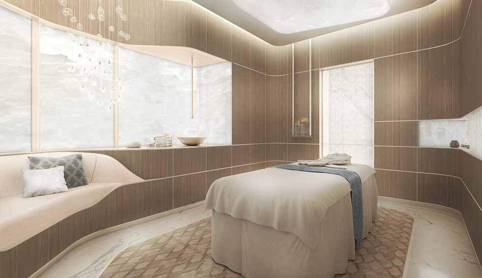 corinthia meydan beach dubai spa treatment room