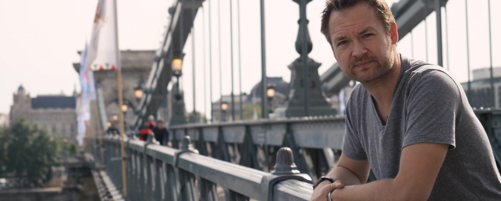 Alex Hunter on Budapest Bridge
